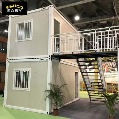 Two floor prefab modern flat pack modular container house / home / office