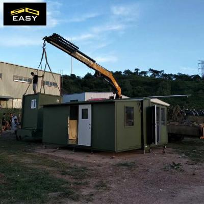 Expandable shipping container home for Hospital clinic use