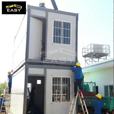 simple 2 floor folding container house for villa
