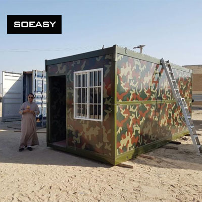 Folding container cabin in Kuwait
