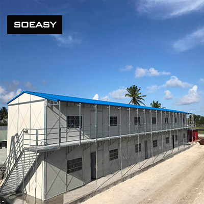 Prefabricated K house for dormitory in Pacific Island